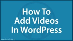 How To Add Videos In WordPress
