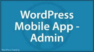 How To Use The WordPress Mobile App - Admin