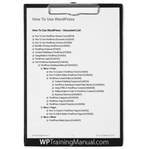 WordPress User Manual Download List [DL04]
