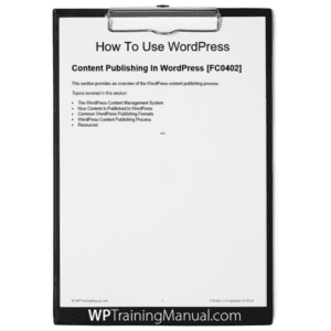 Content Publishing In WordPress [FC0402]
