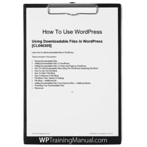 Using Downloadable Files In WordPress [CL040305]