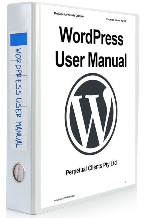 WordPress User Manual (Rebrandable) [WPTM-004R]