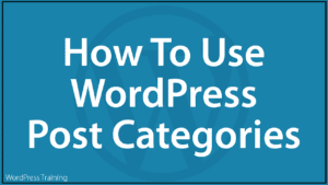 How To Use WordPress Post Categories