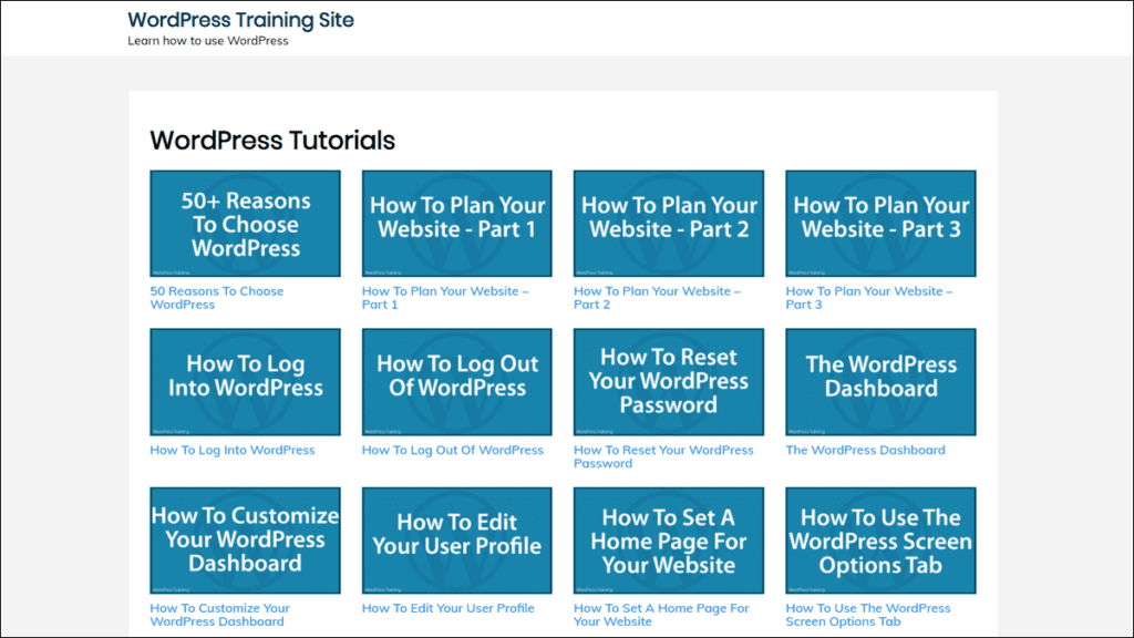 WordPress Tutorials Template