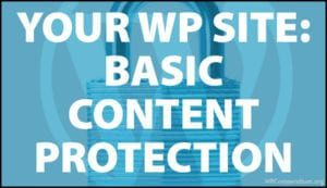 Your WordPress Site - Basic Content Protection