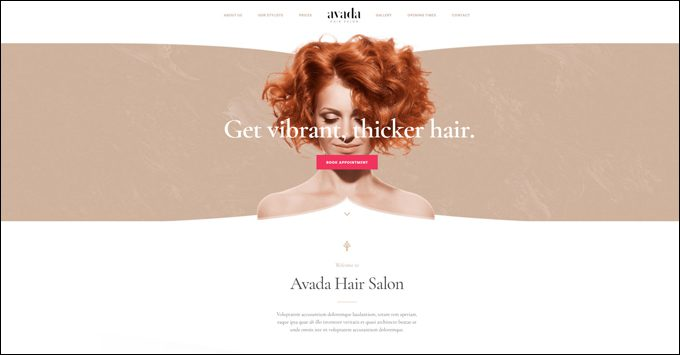 Avada Theme Demo - Salon